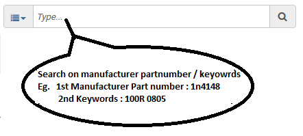 search by manufacturer part number and keywords